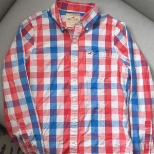 Hollister button down in gingham